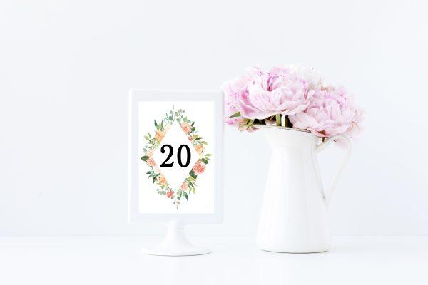 hochzeitsplanung Tischnummer Ideen